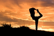yoga at sunssets