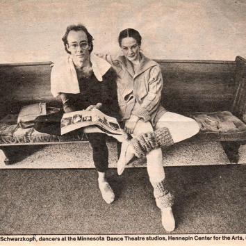 Carol Schwarzkopf and Eric Miller- Minnesota Dance Theatre1981